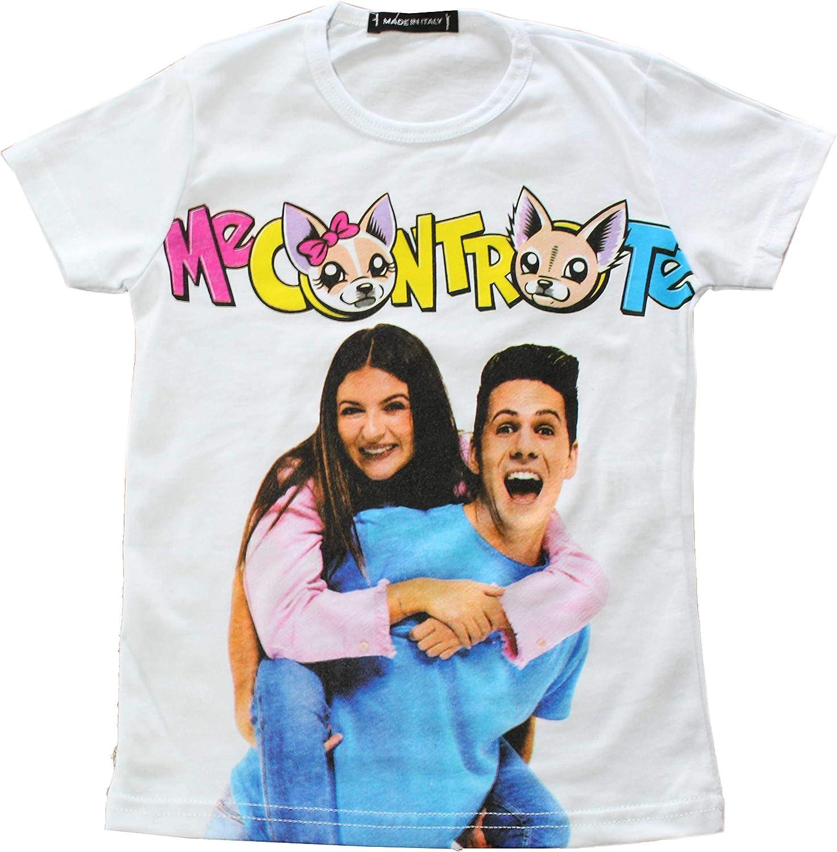 T Shirt Me Contro Te Replica Bianca Bambina Bambino Unisex Maglietta in Cotone a Maniche Corte con Personaggi del Momento dei Bambini