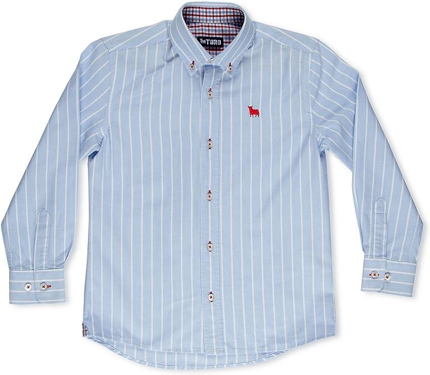 TORO Camisa Junior Oxford Rayas Azul 10 años (140 cm): Amazon.es: Ropa y accesorios