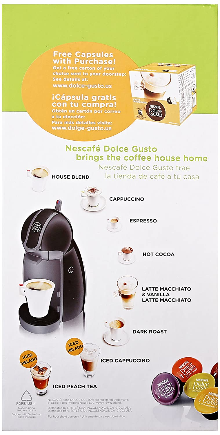 Amazon.com : Nescafe Dolce Gusto Piccolo Coffee Machine : Grocery & Gourmet Food