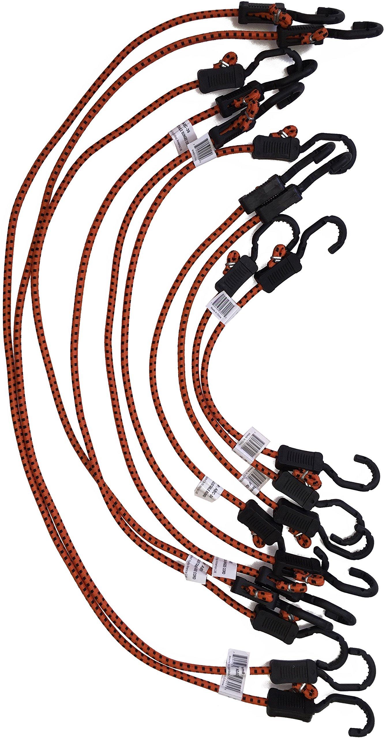 Kotap Adjustable Bungee Cords, 10-Piece Assortment Pack by Kotap (Image #1)