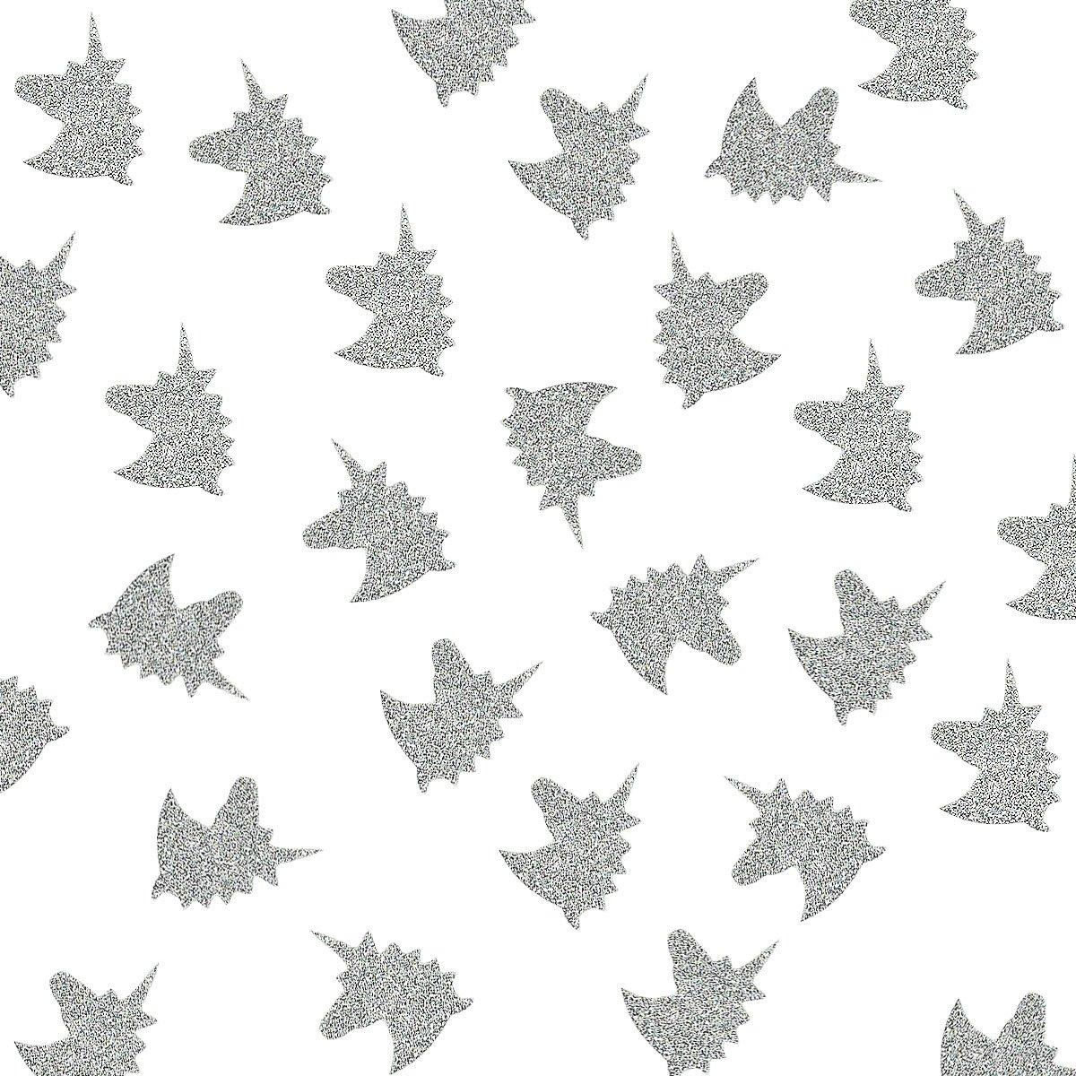 NICROLANDEE Unicorn Wedding Confetti Silver Glitter Paper Party Confetti Table Scatter Decor Unicorn Party Supplies Bachelorette Bridal Shower Birthday Baby Shower Favor 50g/Pack