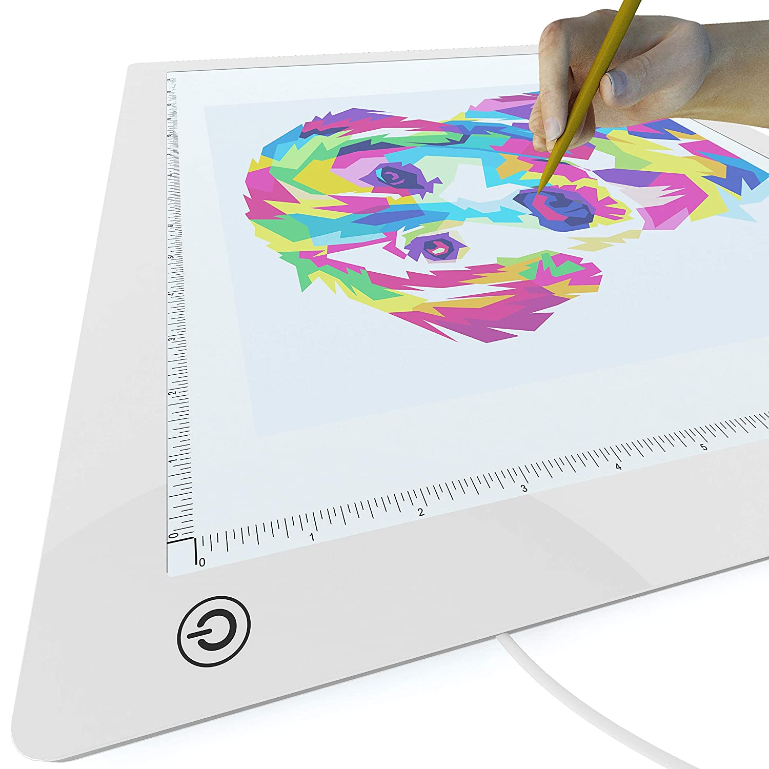 Large Grid-Free A3 Light Pad Mid /& Low Brightness Advanced Filter to Prevent Eye Fatigue Hi Picture//Perfect Best Light Box for Diamond Painting /& Tracing 17x14 Tracing Paper Included