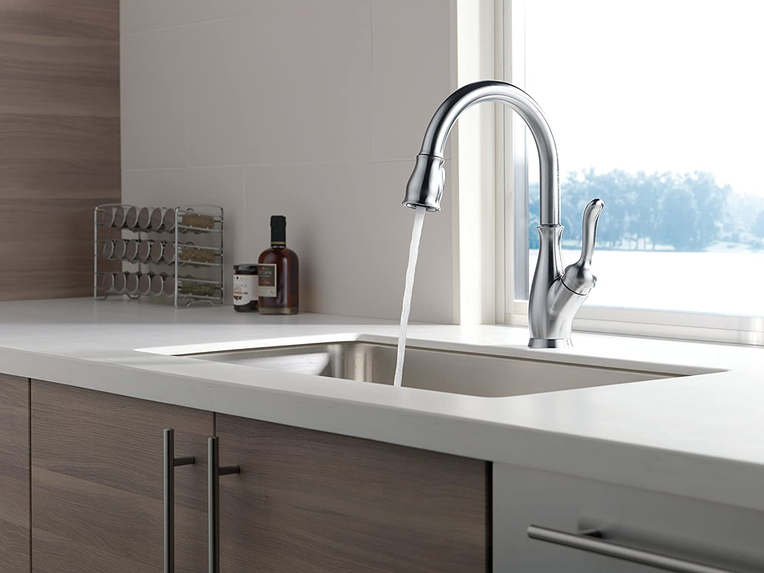 Leland Delta Kitchen Faucet Delta Faucet 9178 Ar Dst Leland Single Handle Pull Down Kitchen