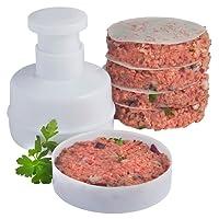 VonShef 10cm Burger Press + 100 Wax Discs – Perfect for Beef Burgers, Hamburgers & BBQs