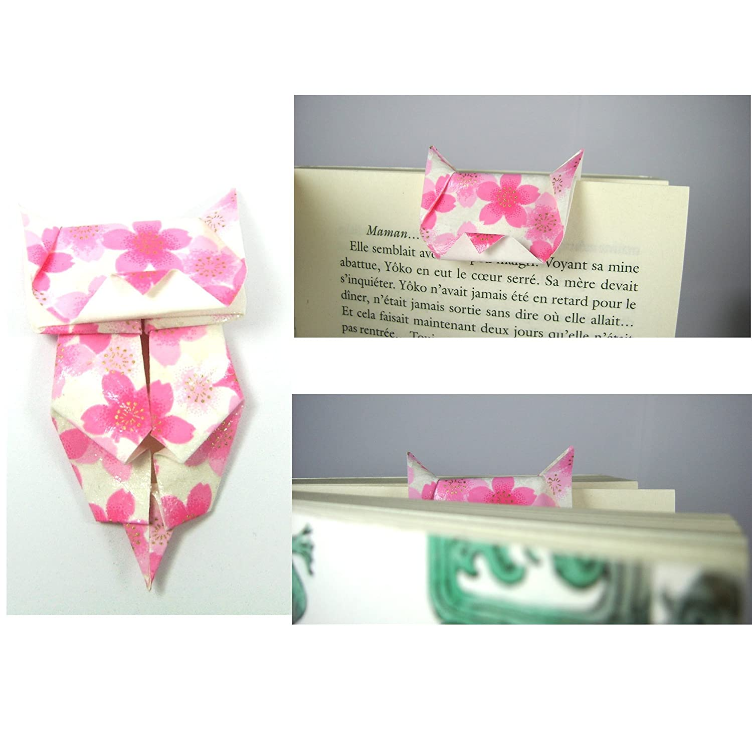 Origami Cat Bookmark | Origami Cat Pencil Topper | How to make a ... | 1500x1500