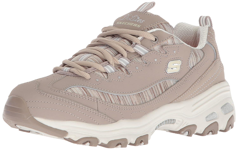Skechers Women's DLites Interlude Sneaker B074HCPSZT 6.5 W US|Taupe