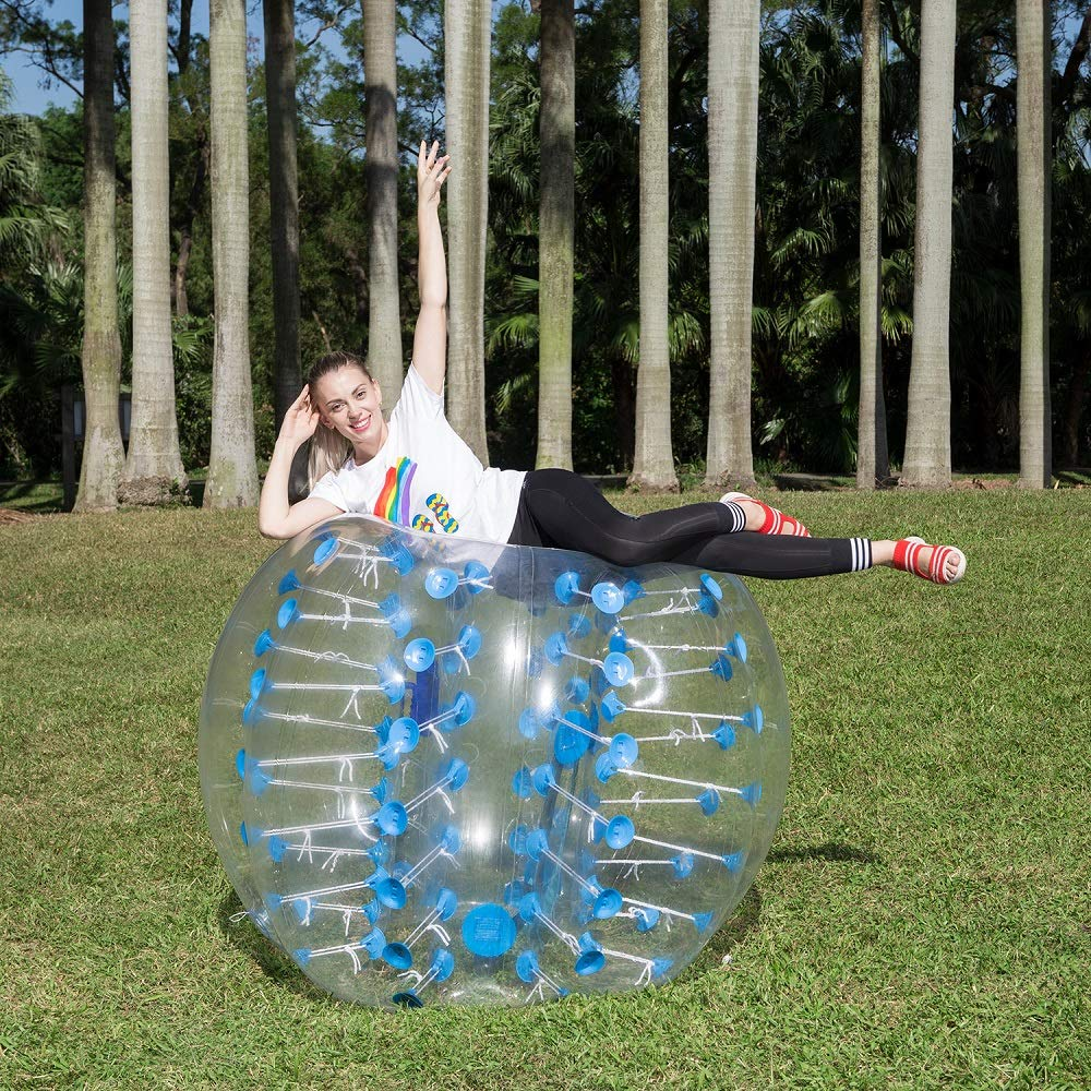[2019 Upgraded] Human Hamster Ball, Bubble Soccer for Kids/Adults, Inflatable Bumper Balls 5 ft /1.5 M W/Carry Bag