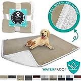 PetAmi Waterproof Dog Blanket for Bed, Couch, Sofa | Waterproof Dog Bed Cover for Large Dogs, Puppies | Sherpa Fleece…