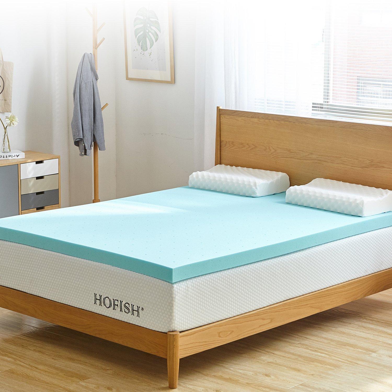 HOFISH 3-inch Gel Memory Foam Mattress Topper - Queen