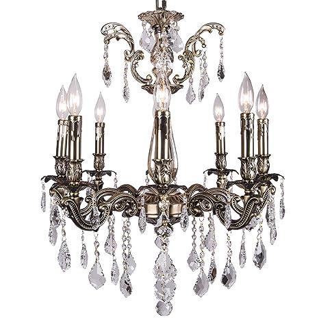 Amazon.com: Classique - Lámpara de araña con 8 cristales de ...