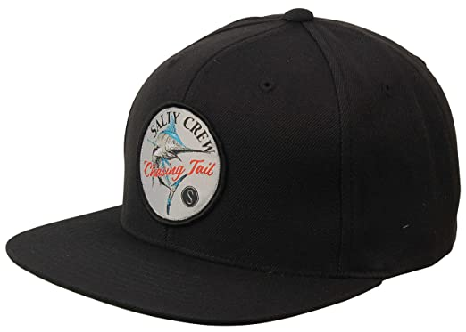 best website 8e54d 5c136 ... canada salty crew striped marlin snapback hat black c1613 f9588