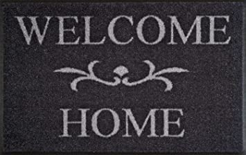 Wash Dry Tapis Welcome Home Anthrazit 50x75 Gris Amazon Fr
