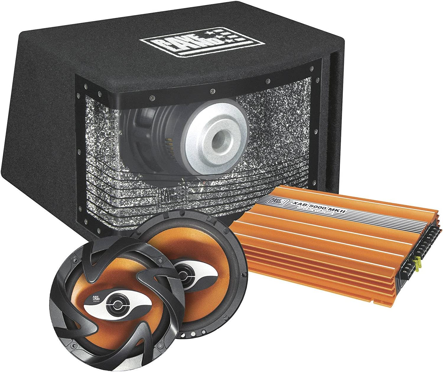 Raveland Car-HiFi-Set XAB-5000 MKII Orange Power 373492 392616