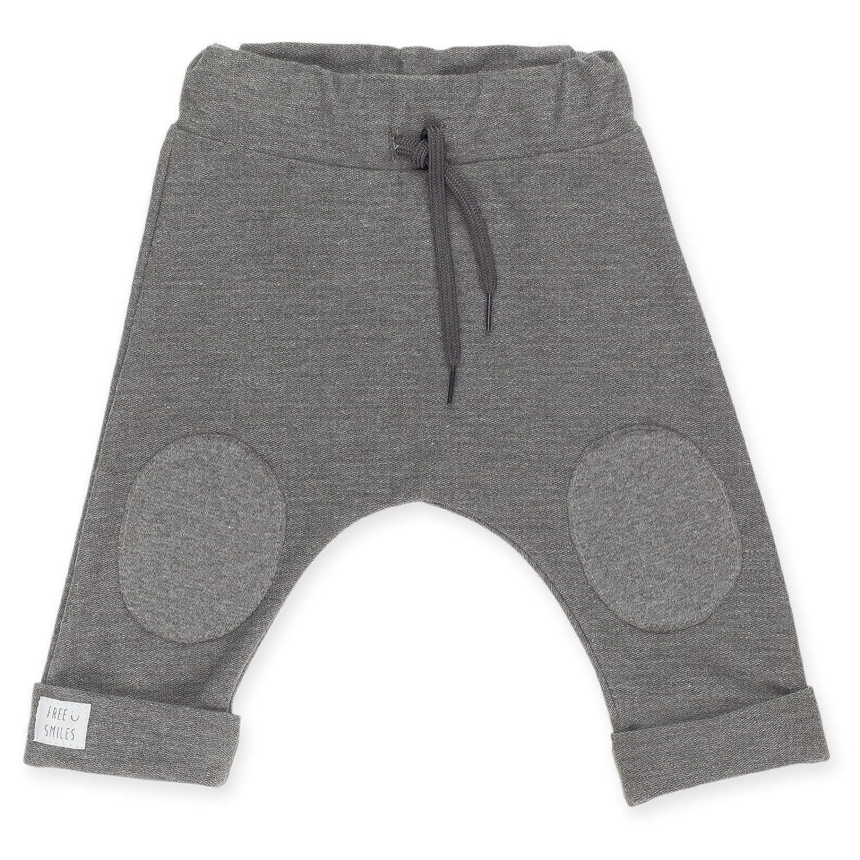 Pinokio Haremshose Pumphose Schlupfhose- elastischer Bund Baby Hose 100/% Baumwolle grau Jogginghose Unisex Happy Day