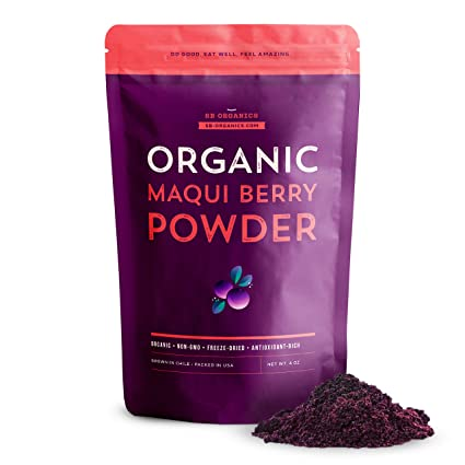 Amazon Com Sb Organics Maqui Berry Powder 4 Oz Bag Of Organic