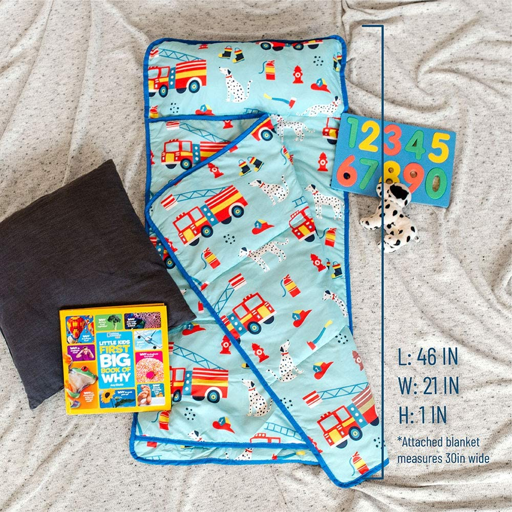 BPA-Free Firefighters Wildkin Kids Everyday Nap Mat for Boys and Girls Nap Mats Measures 46 x 21 x 1 Inches Perfect for Sleepovers /& Travels Olive Kids Ideal for Daycare and Preschool