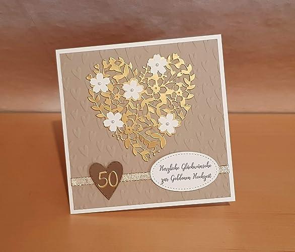 Karte Goldhochzeit Goldene Hochzeit 50 Hochzeitstag
