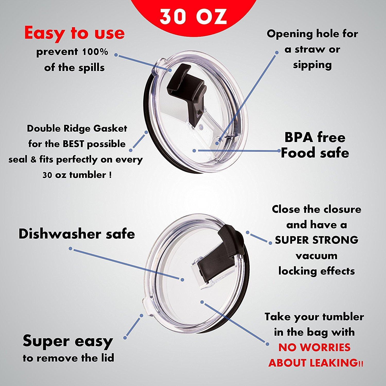Buy 2 New 30 Oz Spill Proof Yeti Lids And Rtic No Leak Splash Perfect Vacuum Wiring Diagram Resistant Replacement Black Locking Closure For Tumbler Fits Ozark