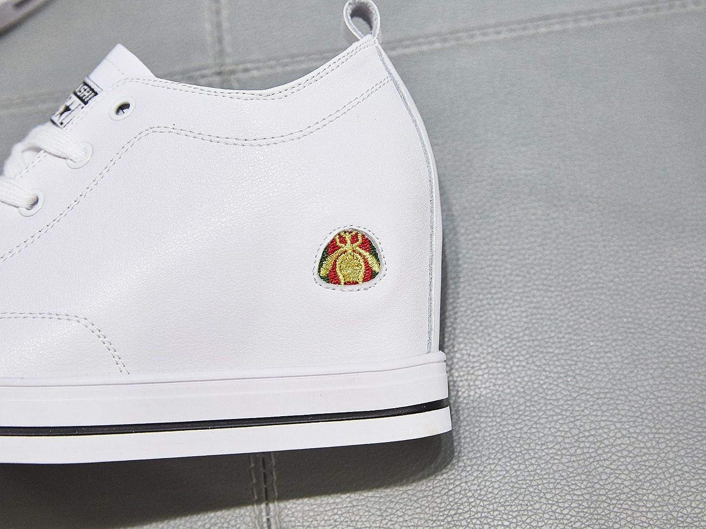 KPHY Damenschuhe Leder Leder Leder Innen Damenschuhe Bienen Joker.Weiße 36 fc14f7