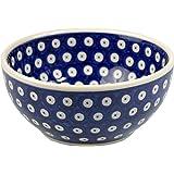 BCV Classic Boleslawiec, Polish Pottery, Hand Painted Stoneware, Ceramic Bowl 0.7 litre, 24 oz (T-001)