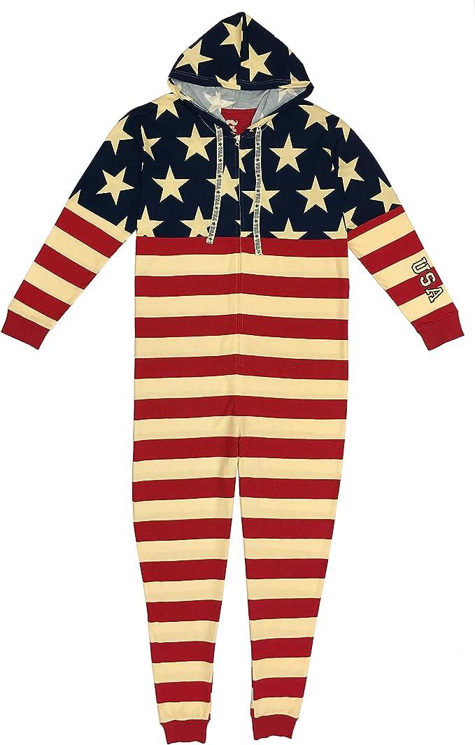 MJC International Mens American Flag Union Suit