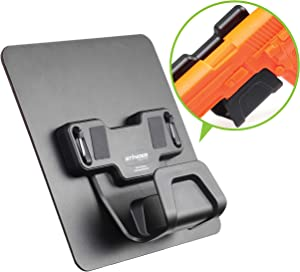 Stinger Magnetic Gun Holder w/Safety Trigger Guard Protection, w/Heavy Duty Sticky Pad Non-Drill Wall Mount Gun Rack Handgun Shotgun Firearm Conceal