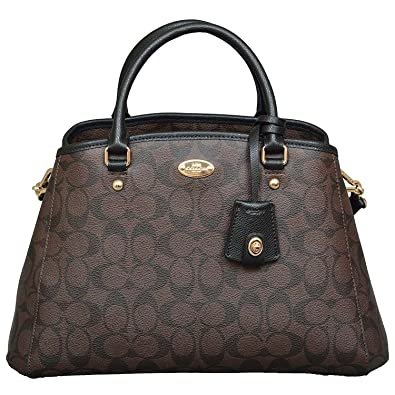 96c5d28b46 Coach Signature Small Margo Carryall in Brown Black  Handbags  Amazon.com