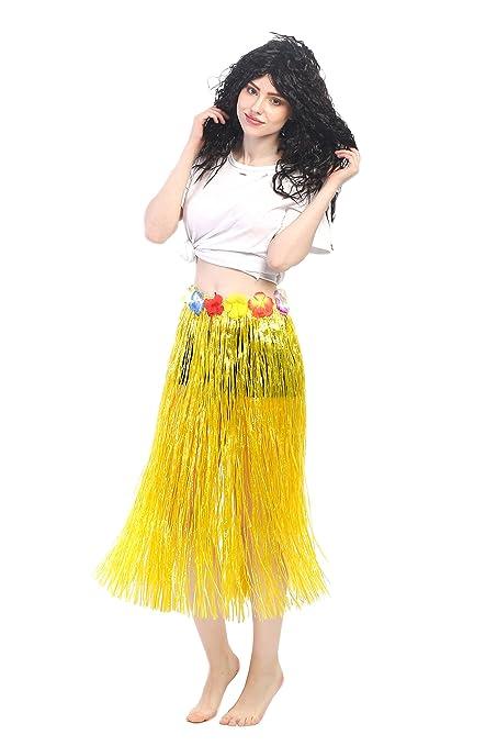 dressmeup Dress ME UP - CQ-004-yellow Carnaval Hawái Falda de Paja ...