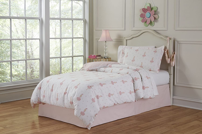 Lullaby Bedding 200-FQBrina Ballerina Full/Queen Cotton Printed Duvet Set