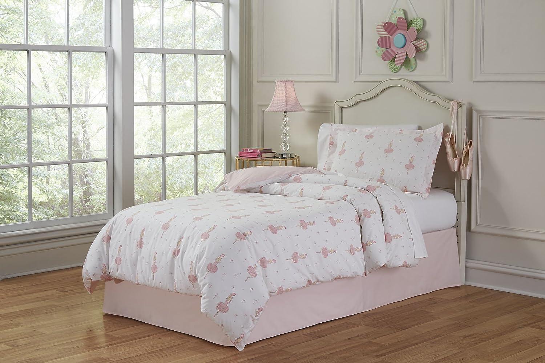 Lullaby Bedding 200-TTBrina Ballerina Cotton Printed Duvet Set, Twin Safah Inc.