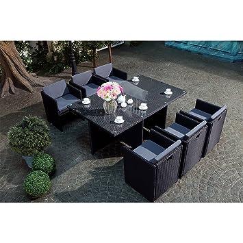 Mon Usine LSR-310-BK/GR 6C Le Vito Salon jardin encastrable en ...