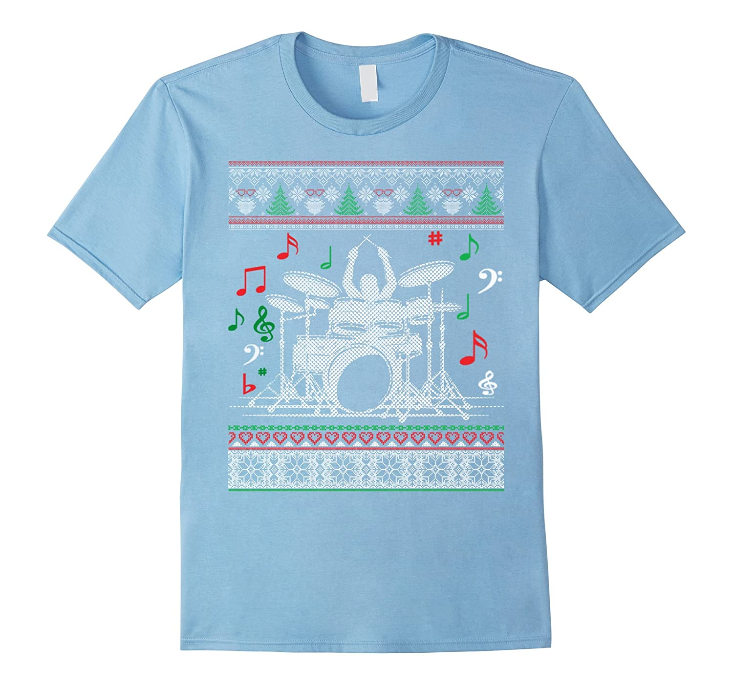 Drums Band Music Rock Ugly Christmas Sweater T Shirt Anz Anztshirt