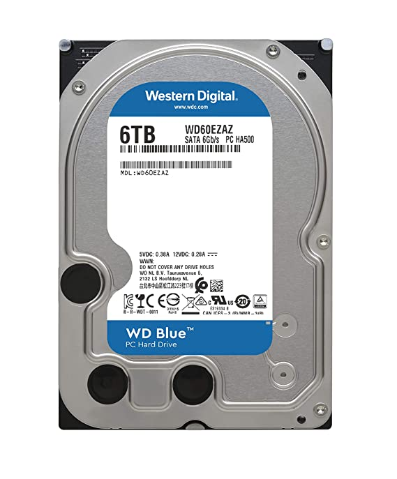 WD Blue 6TB PC Hard Drive - 5400 RPM Class, SATA 6 GB/S, 256 MB Cache, 3 5
