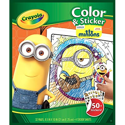 Crayola Color and Sticker Pages - Minions: Toys & Games