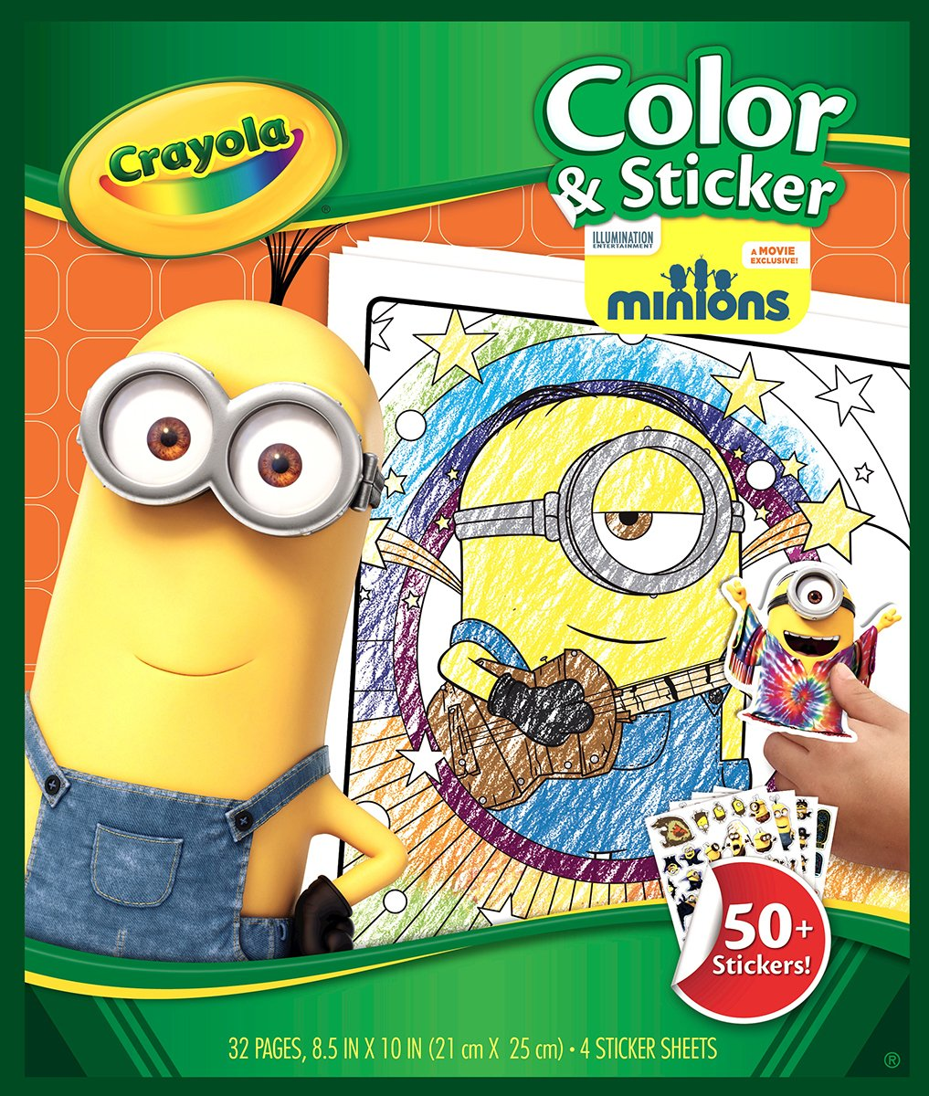 Amazoncom Crayola Color and Sticker Pages  Minions Toys  Games