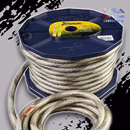 Amazoncom 4 Gauge 80 Feet Snakeskin Power Ground Ofc Wire Copper