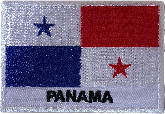 Parche bordado con la bandera de Panamá para coser en la camiseta: Amazon.es: Hogar