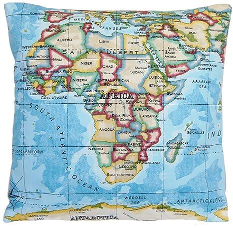 Amazon.com: Blue Mapas de cojín (Atlas Antiguo Mapa Del ...