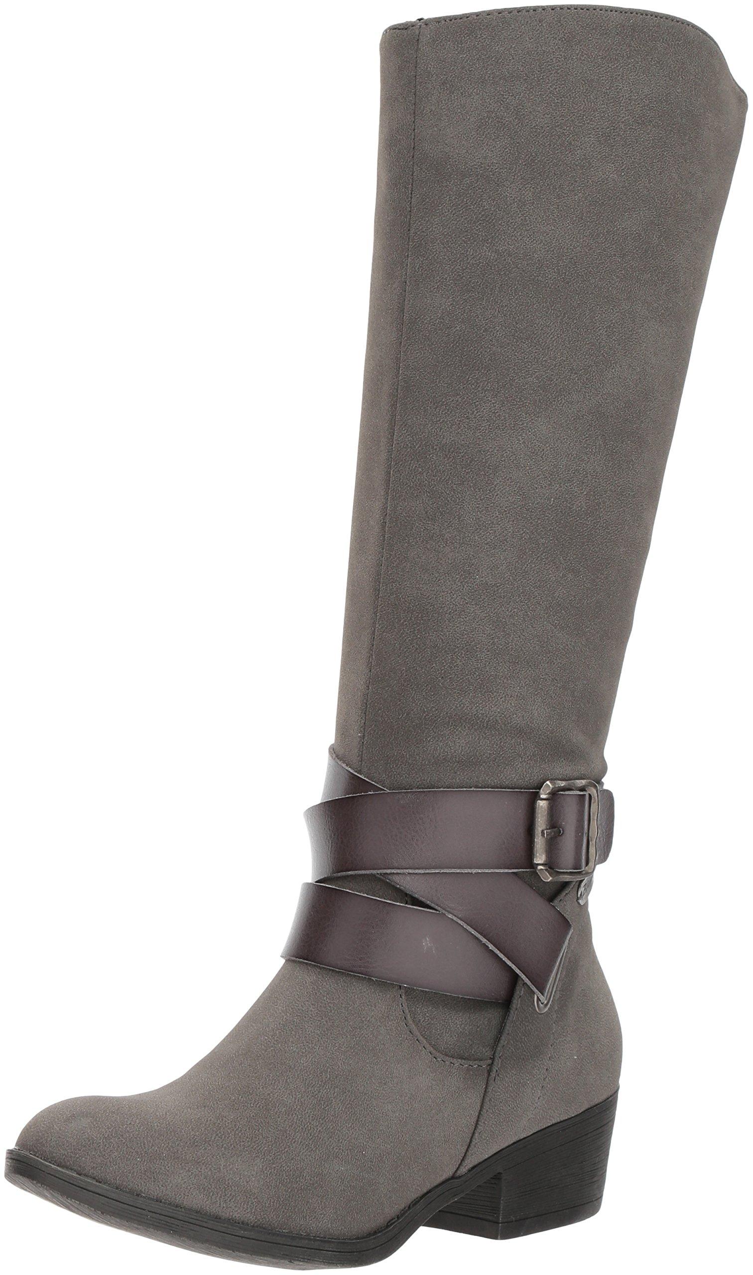 Blowfish Women's Sharpshooter Boot, Grey Sport Suede/Gunmetal Dyecut, 10 M US