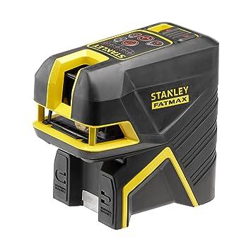STANLEY FMHT1-77414 - Nivel laser de cruz + 2 puntos - Rojo. 20 metros (50 metros con detector) ±3mm/m: Amazon.es: Bricolaje y herramientas