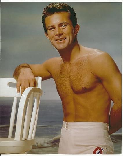 Robert Conrad very young bare chest swim trunks 8x10 Photo