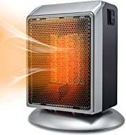 Space Heater, Bermunavy Indoor Personal Heater, Portable Electric Ceramic Heater with Over Heat Protection, Tip Over Protecti