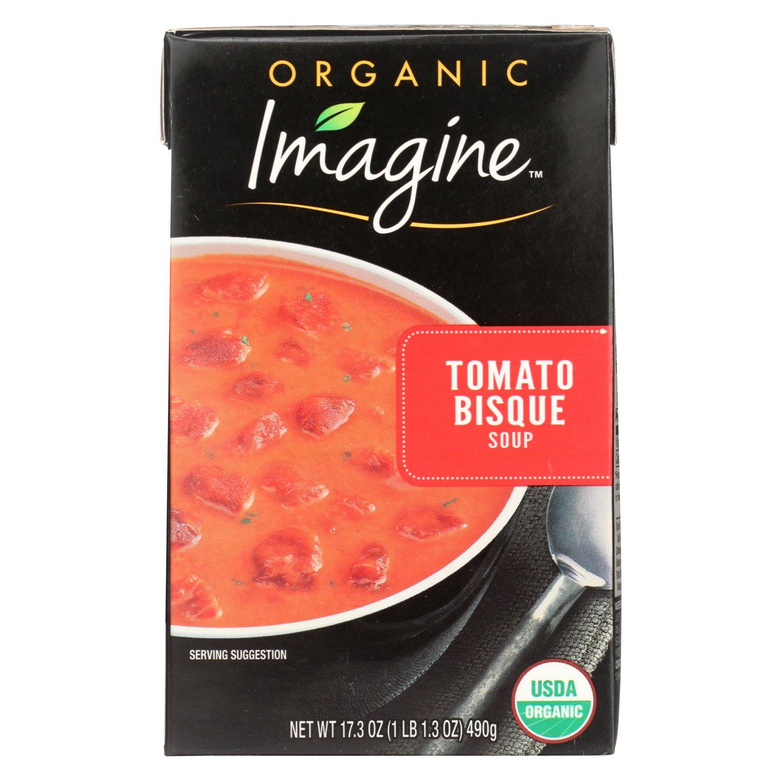 Imagine Foods Tomato Bisque Soup - Organic - Case of 12 - 17.3 oz.