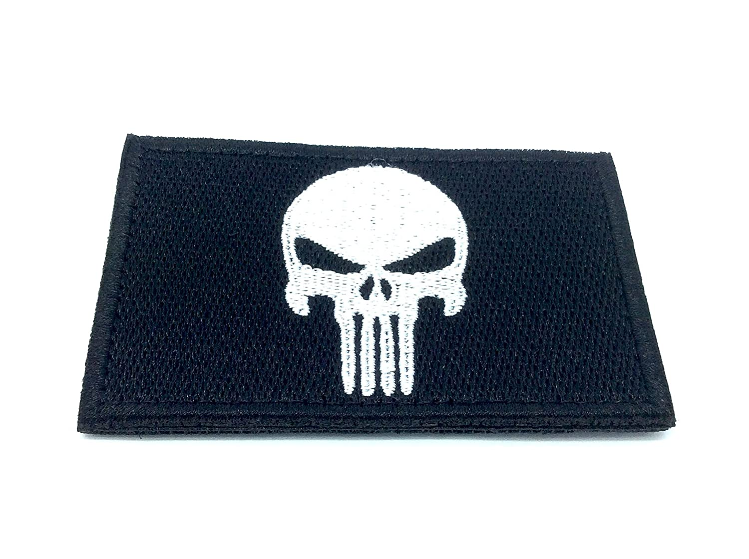 Punisher Nero Ricamato Patch Airsoft Cosplay Toppa Patch Nation