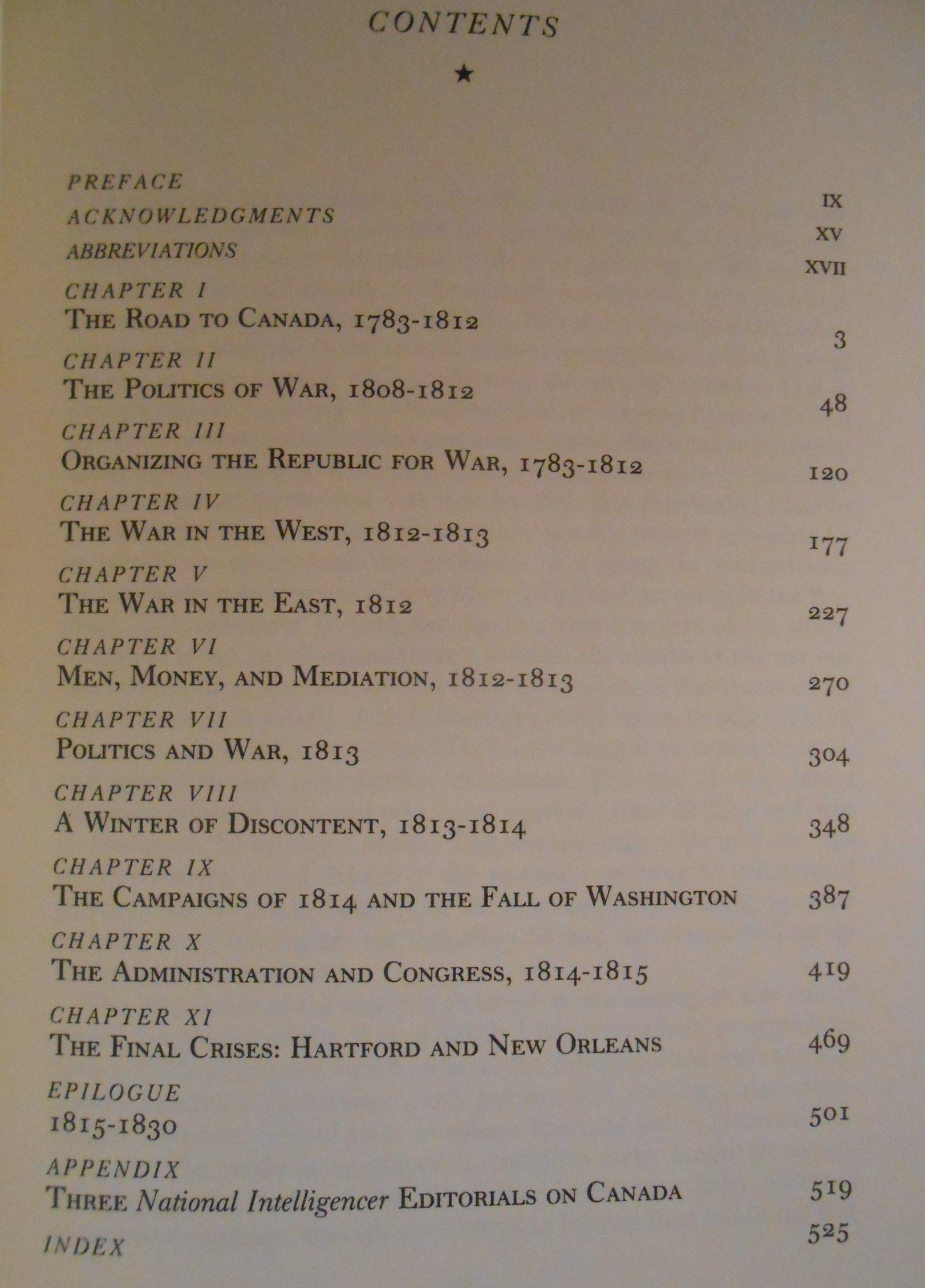 Mr. Madison's War: Politics, Diplomacy, and Warfare in the Early American  Republic, 1783-1830: John C. Stagg: 9780691101507: Books - Amazon.ca