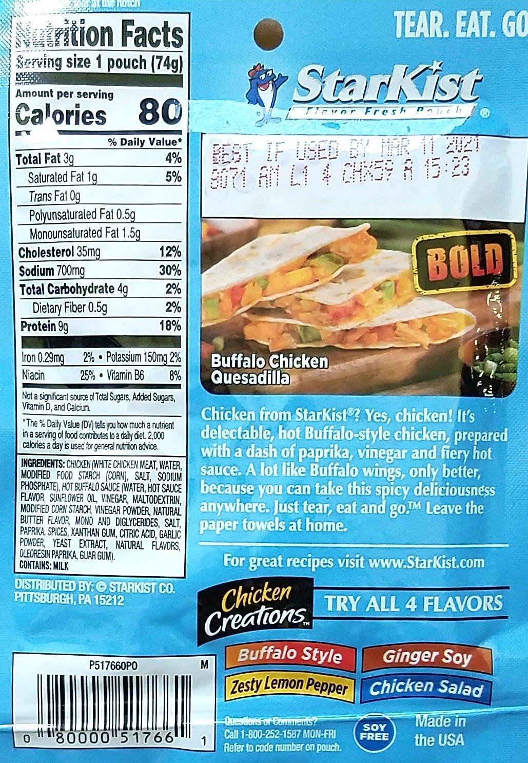 StarKist Chicken Creations, Chicken Salad, 12 Count: Amazon.com ...