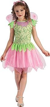 Generique - Disfraz de Hada Verde y Rosa Niña L 10-12 años (130 ...