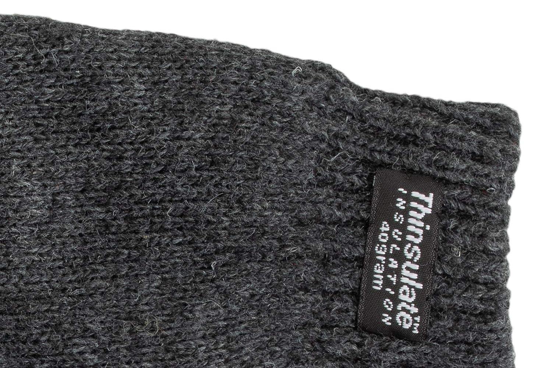 warm EEM Kinder Strick Handschuhe SNOW AND FUN mit Touch-Funktion und Thinsulate/™ Thermofutter aus 100/% Baumwolle smartphone sportlich
