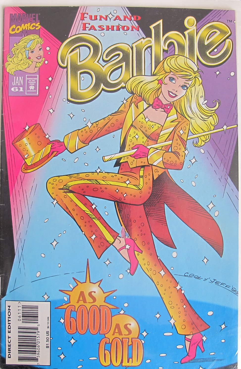 Marvel Comics Group Marvel Comics BARBIE Fun and Fashion AS GOOD AS GOLD Jan #61 1996 Direct Edition