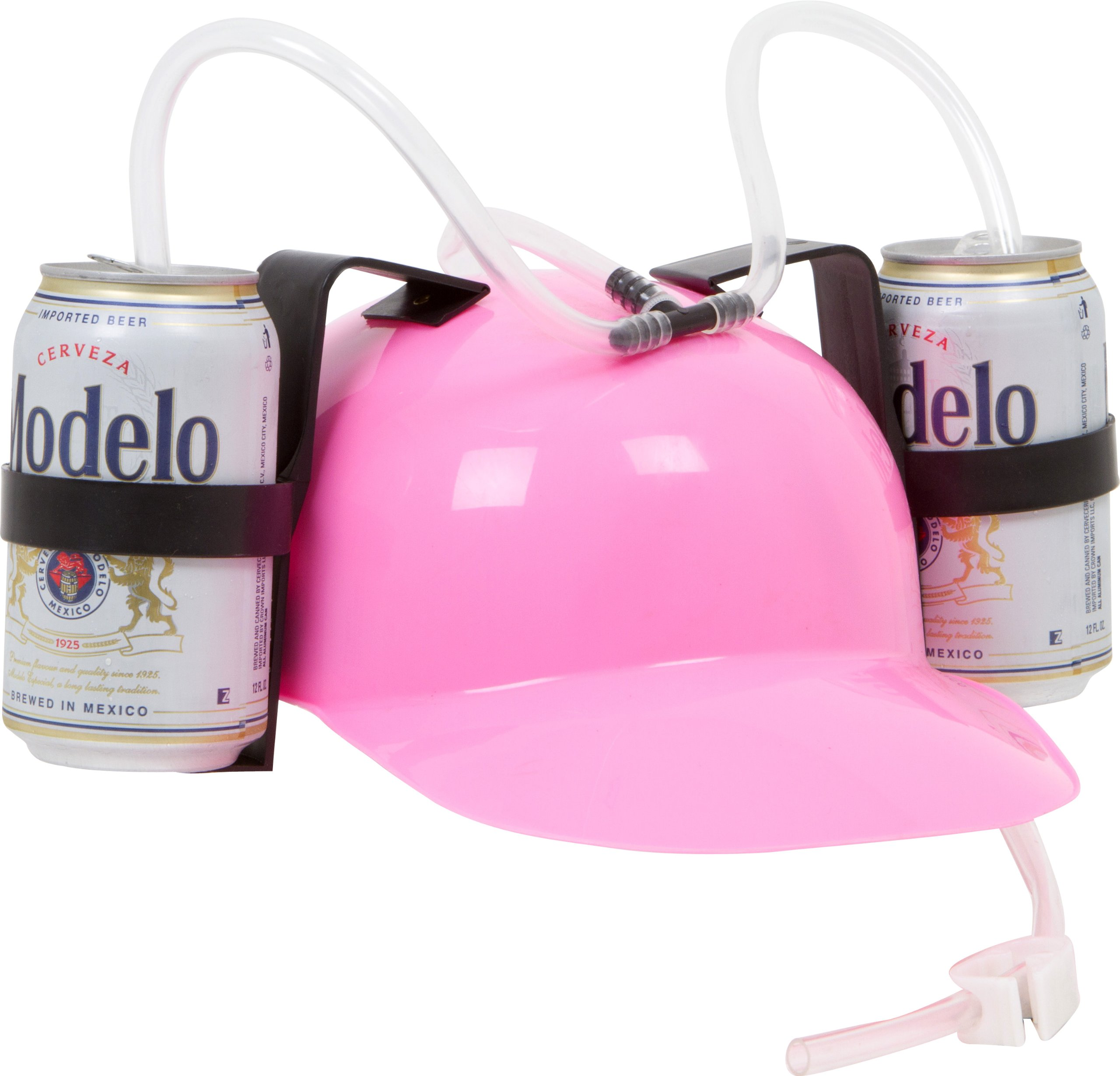 EZ Drinker Beer and Soda Guzzler Helmet (Pink) by EZ DRINKER (Image #1)
